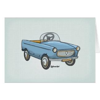 wish card pretty Peugeot 404 vintage