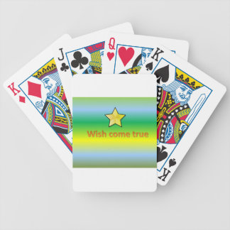 wish come true bicycle playing cards