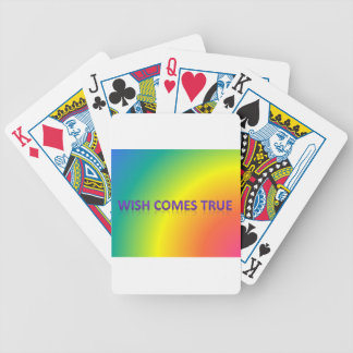 wish comes true bicycle playing cards