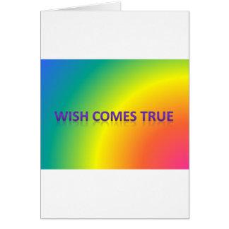 wish comes true card
