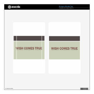 wish comes true decal for kindle fire