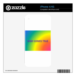wish comes true decals for the iPhone 4