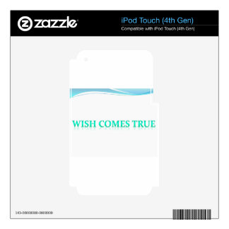 wish comes true iPod touch 4G skins