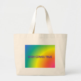 wish comes true large tote bag