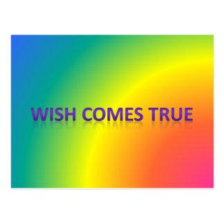 wish comes true postcard