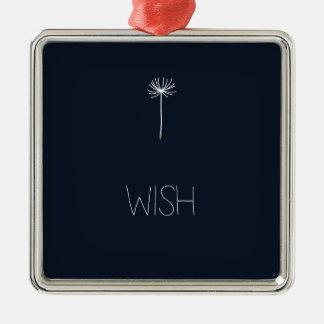 Wish Dandelion Metal Ornament