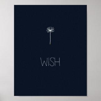 Wish Dandelion Posters