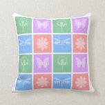 Wish, Dream, Hope, Believe Pastel Patchwork Pillows