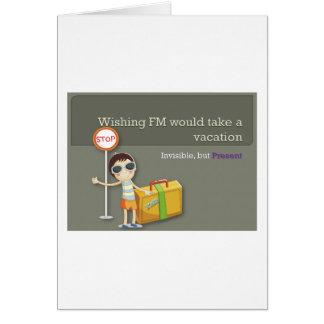 Wish Fibromyalgia Would Take A Vacation Card