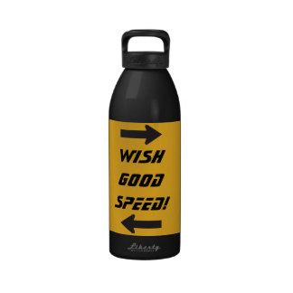 wish good speed! water bottle