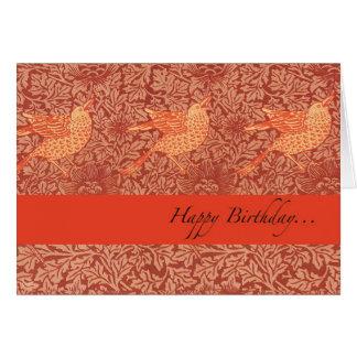 "Wish ""Happy Birthday"" with three singing birds Greeting Card"