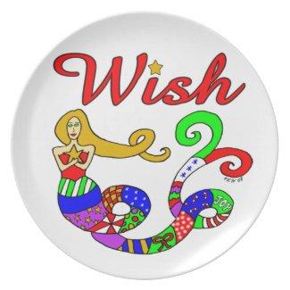 Wish Holiday Mermaid plate