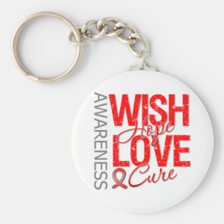 Wish Hope Love Cure AIDS HIV Basic Round Button Keychain
