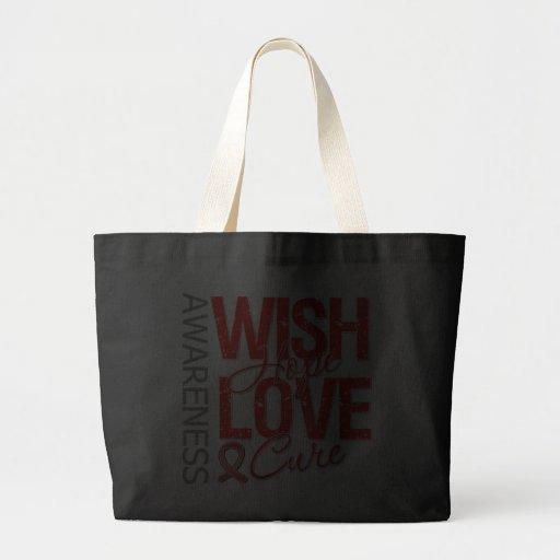 Wish Hope Love Cure AIDS HIV Jumbo Tote Bag