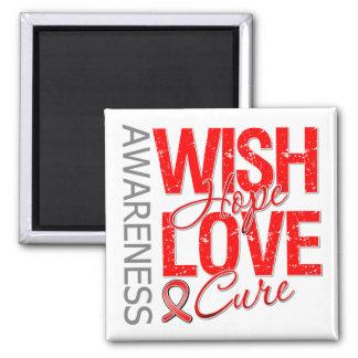Wish Hope Love Cure AIDS HIV Fridge Magnet