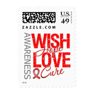 Wish Hope Love Cure AIDS HIV Stamps