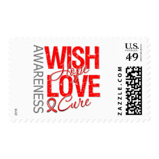 Wish Hope Love Cure AIDS HIV Stamp