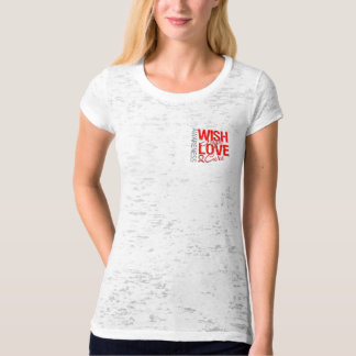 Wish Hope Love Cure AIDS HIV T-shirt