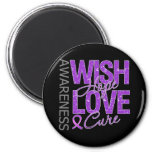 Wish Hope Love Cure Alzheimer's Disease 2 Inch Round Magnet