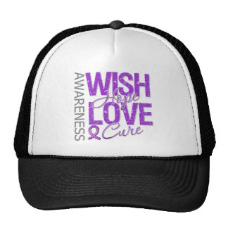 Wish Hope Love Cure Alzheimer's Disease Trucker Hat