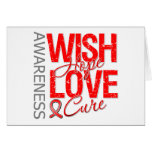 Wish Hope Love Cure Blood Cancer Greeting Cards