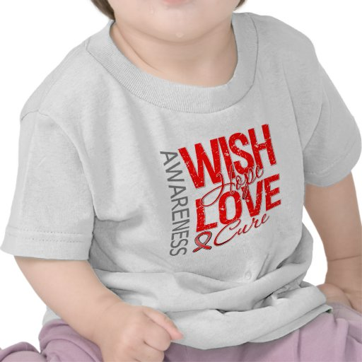 Wish Hope Love Cure Blood Cancer T-shirts