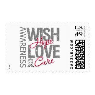 Wish Hope Love Cure Brain Cancer Postage Stamp