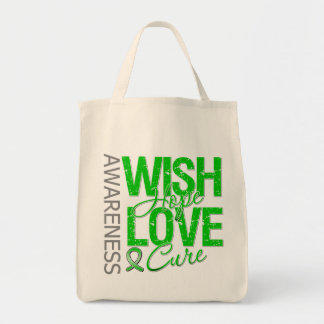 Wish Hope Love Cure Cerebral Palsy Grocery Tote Bag