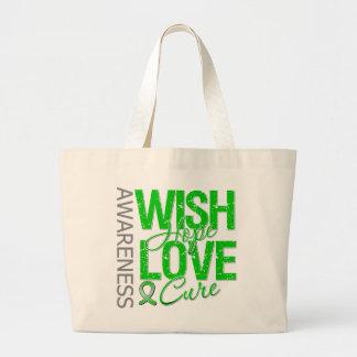 Wish Hope Love Cure Cerebral Palsy Jumbo Tote Bag