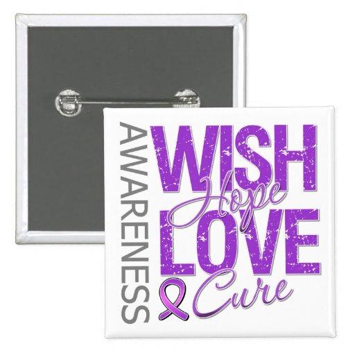 Wish Hope Love Cure Fibromyalgia Pin