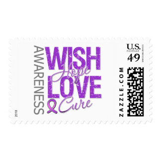 Wish Hope Love Cure Fibromyalgia Stamps
