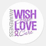 Wish Hope Love Cure Fibromyalgia Stickers