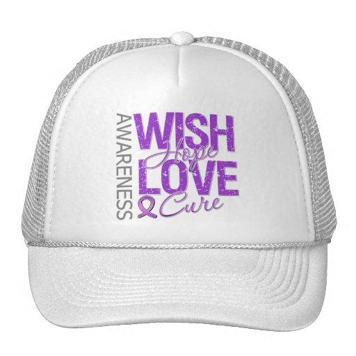 Wish Hope Love Cure Fibromyalgia Trucker Hat