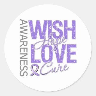Wish Hope Love Cure Hodgkin's Lymphoma Stickers
