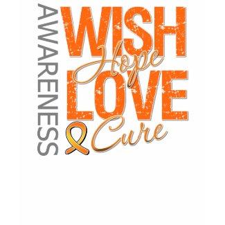 Wish Hope Love Cure Leukemia shirt