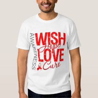 Wish Hope Love Cure Oral Cancer T Shirt