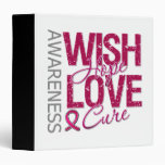 Wish Hope Love Cure Sickle Cell Anemia Binder