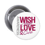 Wish Hope Love Cure Sickle Cell Anemia Pin