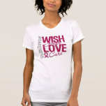 Wish Hope Love Cure Sickle Cell Anemia Tee Shirt