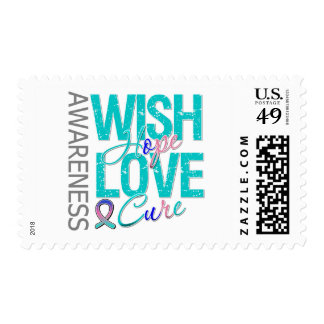 Wish Hope Love Cure Thyroid Cancer Postage