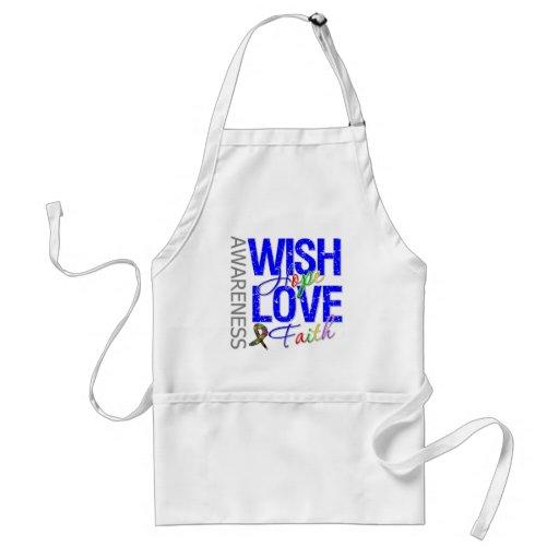 Wish Hope Love Faith Autism Apron
