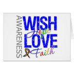 Wish Hope Love Faith Autism Greeting Cards