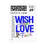 Wish Hope Love Faith Autism Postage