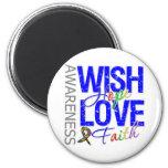 Wish Hope Love Faith Autism Refrigerator Magnet
