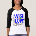 Wish Hope Love Faith Autism Shirts