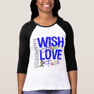 Wish Hope Love Faith Autism T-Shirt