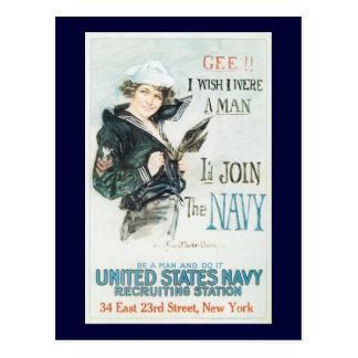 Wish I Were A Man World War 2 Postcard