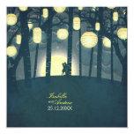 """Wish Lanterns Dream Forest 5.25"""" Square Invitation Card"""