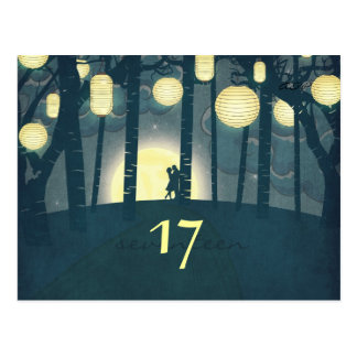 Wish Lanterns Dream Forest - Table Number Card