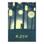 "Wish Lanterns Dream Forest Wedding RSVP Invitation 3.5"" X 5"" Invitation Card"